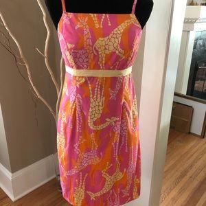 Lilly Pulitzer Vintage Giraffe Dress, size 6